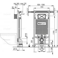 ALCAPLAST set ALCAmísa 5v1 AM102/1120,M270,M91/sedátko/mísa (Jádromodul) A102SET5V1 (A102SET5V1)