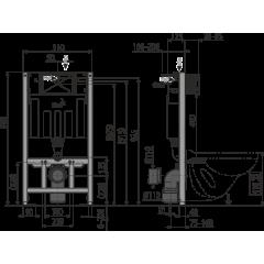 ALCAPLAST set ALCAmísa 5v1 AM101/1120,M270,M91/sedátko/mísa (Sádromodul) A101SET5V1 (A101SET5V1)