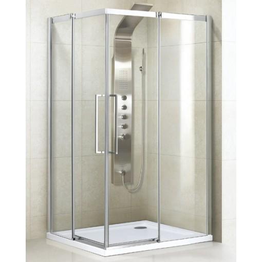 ADMIRAL R14 Chrom Luxusní sprchová zástěna obdélníková 100x80cm , sklo 8mm