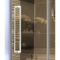 ADMIRAL R33 Chrom Luxusní sprchová zástěna obdélníková 120x90cm, sklo 8mm
