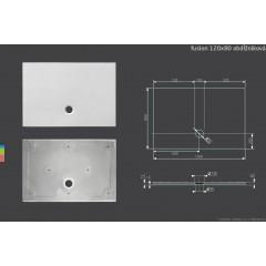 FUSION 120x80 sprchová vanička z litého mramoru obdélníková