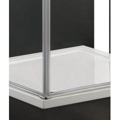 GLASS A2 90 cm CHROM Sprchová zástěna 90x90x195cm