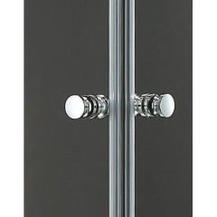 Pure A2 90 cm  Sprchová zástěna 90x90x190cm s dvěma otočnými dveřmi a vaničkou z litého mramoru