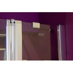 Glass B4 125 sprchové dveře do niky dvoukřídlé s pevnou stěnou 121,5-125cm