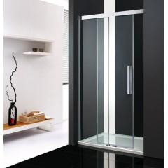 Nobel B2 - Luxusní sprchové dveře zasouvací s brzdou 132-136cm, sklo 8mm