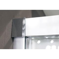 Nobel B2 - Luxusní sprchové dveře zasouvací s brzdou 147-151cm, sklo 8mm