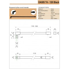 OASIS BLACK F1 90x200cm WALK-IN zástěna