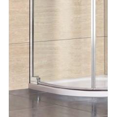 PARTY S2 90 cm CHROM Luxusní sprchová zástěna čiré sklo 8mm