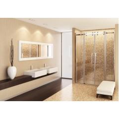 Tekno B4 - Luxusní sprchové dveře zasouvací 166-170 cm, sklo 8mm