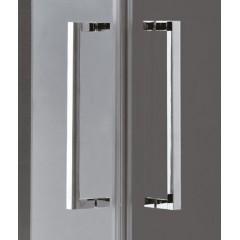 TEKNO R14 Chrom Luxusní sprchová zástěna obdélníková 100x80cm , sklo 8mm