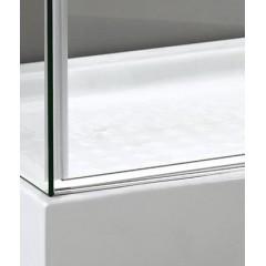 TEKNO R63 Chrom Luxusní sprchová zástěna obdélníková 160x90cm, sklo 8mm