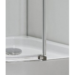 TEKNO S4 90 cm CHROM Sprchová zástěna čiré sklo, 8mm