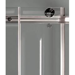 TEKNO R23 Chrom Luxusní sprchová zástěna obdélníková 120x80cm, sklo 8mm