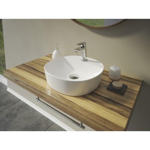 ALFA3 čtvercové keramické umyvadlo se zaoblenými rohy 40,5x40,5x11,5 cm