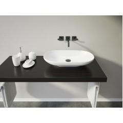 KARMA oválné keramické umyvadlo  64x13,7x35cm