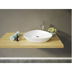 LEON keramické umyvadlo na desku 59,5x40x12,5 cm