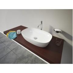 LOREN1 hranaté keramické umyvadlo se zaoblenými rohy  60x38x13 cm