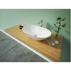 VIVIAN oválné keramické umyvadlo  60x15x38,5cm