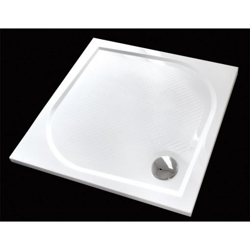 Bent 90x90cm sprchová vanička z litého mramoru čtvercová s protiskluzovou úpravou