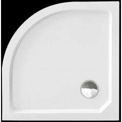 SMC MAXI 80x80cm sprchová vanička z tvrzeného polymeru čtvrtkruhová