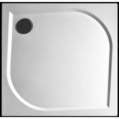 Bent 80x80cm sprchová vanička z litého mramoru čtvercová s protiskluzovou úpravou