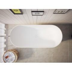 KIM 170x74x55 cm koupací vana z litého mramoru