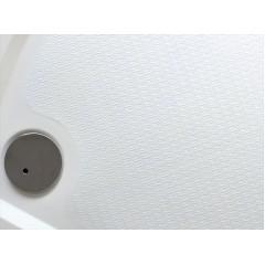 Bent 80 sprchová vanička z litého mramoru čtvrtkruhová s protiskluzovou úpravou