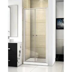 Family B02 CHROM Sprchové dveře do niky dvoukřídlé, 87-91 x 190cm