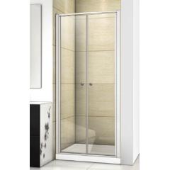Family B02 CHROM Sprchové dveře do niky dvoukřídlé, 92-96 x 190cm