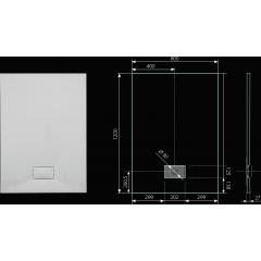 SMC GLOSSY 120x80cm sprchová vanička z tvrzeného polymeru obdélníková