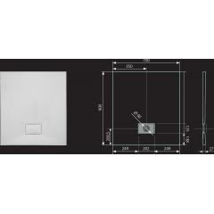 SMC GLOSSY 90x70cm sprchová vanička z tvrzeného polymeru obdélníková