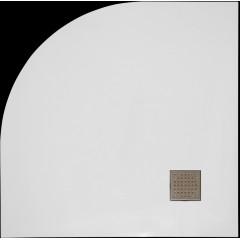 SMC GLOSSY 90x90cm sprchová vanička z tvrzeného polymeru čtvrtkruhová