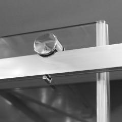 TEKNOSOFT B2 120 - Luxusní sprchové dveře zasouvací 117-121cm, sklo 8mm