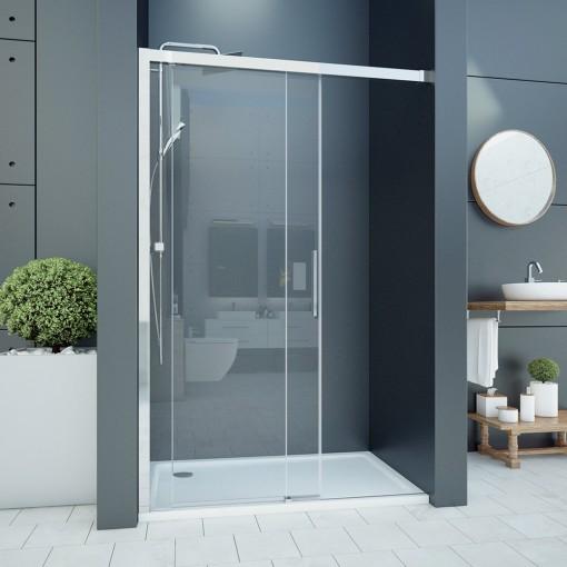WELLNESS B2 145 Sprchové dveře zasouvací 142-146cm, sklo 6mm