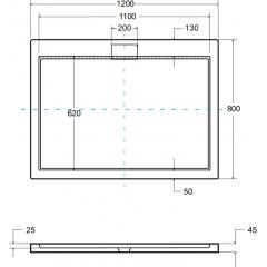 AXIM ULTRASLIM sprchová vanička 120x80cm