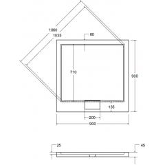 AXIM ULTRASLIM sprchová vanička 90x90cm