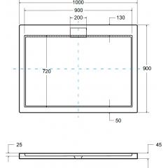 AXIM ULTRASLIM sprchová vanička 100x90cm
