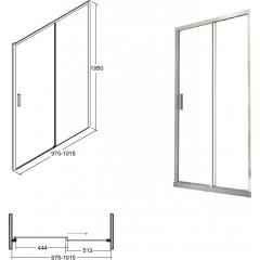 ACTIS sprchové dveře 100x195cm