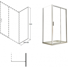 ACTIS boční panel 90x195cm