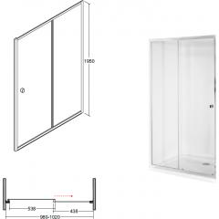 DUO SLIDE 100 sprchové dveře zasouvací 98-102 cm x 195 cm