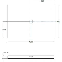 NOX ULTRASLIM sprchová vanička 100x80cm