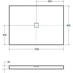 NOX ULTRASLIM  WHITE sprchová vanička 100x90cm