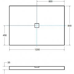 ULTRASLIM sprchová vanička 120x90cm