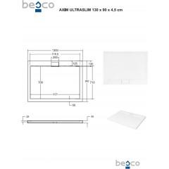 AXIM ULTRASLIM sprchová vanička 130x90cm