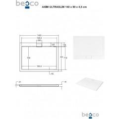 AXIM ULTRASLIM sprchová vanička 140x90cm