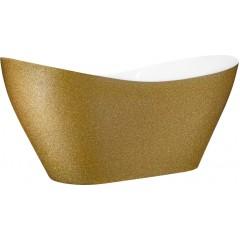 VIYA GLAM ZLATÁ 160x70 cm volně stojící koupací vana z litého mramoru