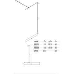 AVEO/ AVEO DUE BLACK 30 boční panel, 30 x 195cm