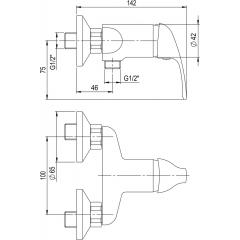REFRESH A10 55 00/100 - sprchový set REFRESH + sprchová baterie s roztečí 100mm