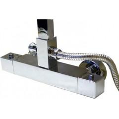 Square sprchový sloup s termostatickou baterií DX13218CS