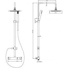 Sprchový sloup s termostatickou baterií Detroit (60043/2)